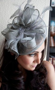 Gray Fascinator  Penny Mesh Hat Fascinator with Mesh by EyeHeartMe, $54.00