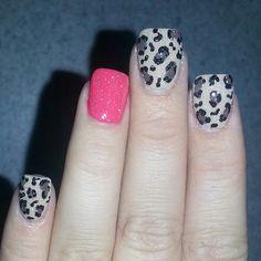 ♥♥ Gray leopard pink sparkles