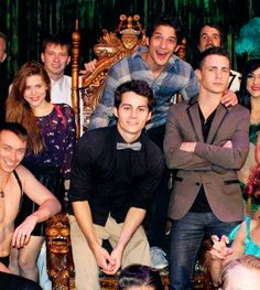 Colton Haynes, Dylan O'Brien and Holland Roden attending Tyler Posey's 21st birthday in Las Vegas.