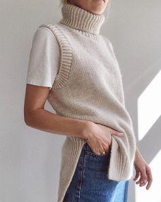 Knit Vest Pattern, Knitting Patterns, Stockinette, Easy Knitting, Terrazzo, Look Fashion, Fashion Show, Ravelry, Knit Crochet