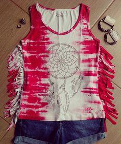Blusa tie dye franjada apanhador dos sonhos...   #liberté #libertemodafeminina #blusadiferenciada #boho #modaboho #folk #hippie #modaalternativa #modaindependente #blusatiedye #tiedye #apanhadordesonhos #dreamcather
