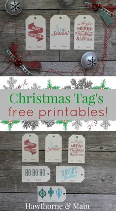 Holiday Gift Tags- FREE Printables!!!