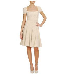 Browns fashion & designer clothes & clothing | AZZEDINE ALAÏA | Crochet Knit Dress with Fluted Skirt