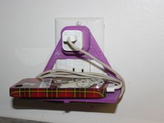 wall outlet cellphone holder