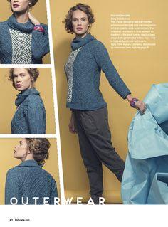 Fire Isle Sweater color knitting pattern from Knitscene Winter 2015