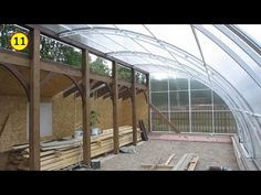 YouTube Hydroponic Farming, Aquaponics, Hoop House Chickens, Reptile Zoo, Houses On Slopes, Geodesic Dome Homes, Greenhouse Shed, Market Garden, Cold Frame