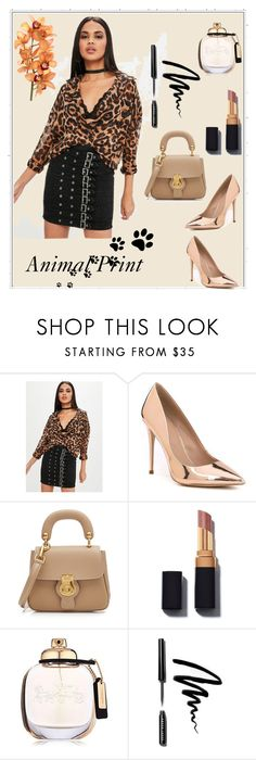 """Animal Print"" by merima-jamakovic ❤ liked on Polyvore featuring Missguided, ALDO, Burberry, Coach, Bobbi Brown Cosmetics and animalprint"