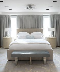 master bedroom bed against window Bed Against Window, Window Behind Bed, Curtains Behind Bed, Window Bed, Window Wall, Bedroom Window Design, Bedroom Windows, Bedroom Layouts, Master Bedroom Design