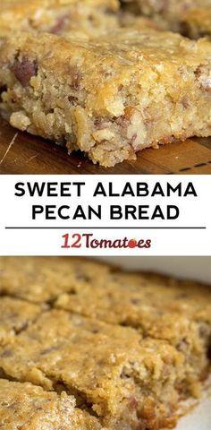 Sweet Pecan Bread {Sub in Applesauce or Plain Greek Yogurt -- instead of oil}