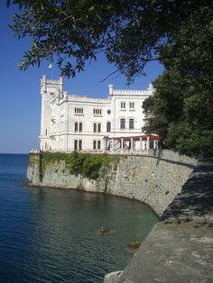 Trieste, castello di Miramare, Italy. 45°42′08.84″N 13°42′44.16″E