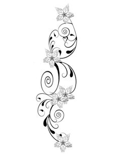 Floral woman's tattoo. 40 ideas for tattoos