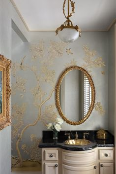 Bathed in a golden hue, this astonishing interior by Teresa Reissig showcases a more high-end furnishing of an amazing design.