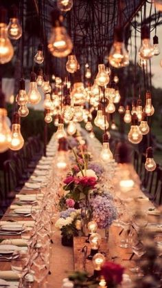 Love this whimsical and romantic wedding set up! It is absolutely beautiful - perfect outdoor wedding reception for all the guests to enjoy on your wedding day! Bali Wedding, Our Wedding, Dream Wedding, Wedding Vintage, Light Wedding, Trendy Wedding, Party Wedding, Summer Wedding, Chic Wedding