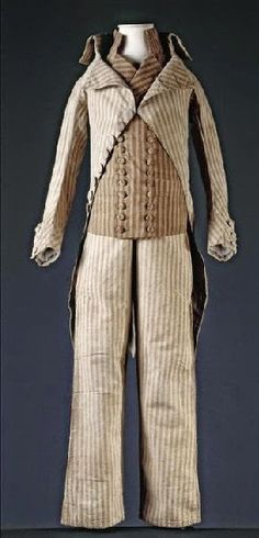 Three-piece suit worn by Louis XVI in 1792 during his imprisonment in the Temple, and preserved by Louis XVI's valet de chambre Jean-Baptiste Clery (1759-1809)