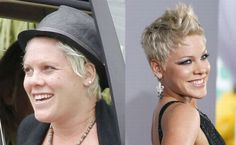 One good thing for Pink is the fact that she can likely step outside and avoid fans and paparazzi when not donning makeup. Description from entertainmentpaw.com. I searched for this on bing.com/images