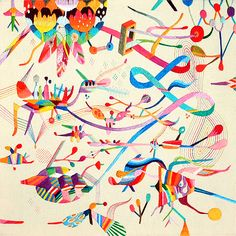 Takashi Iwasaki   Cosmic Embroideries of Colour inspiration