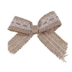 6pcs Noeud Papillon Toile de Jute Mariage Rustique Décoration DIY: Amazon.fr…