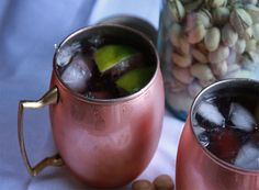 Pomegranate Mule: pom juice, lime, vodka and lots of gingerale make a super refreshing libation