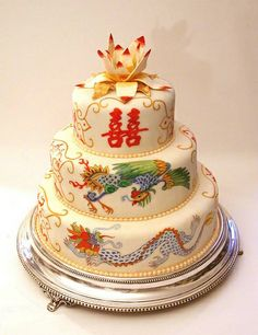Asian Fusion Wedding Cakes – Part I Wedding Cake Decorations, Wedding Cake Toppers, Beautiful Cakes, Amazing Cakes, Chinese Cake, Chinese Party, Asian Party, Cupcake Cakes, Cupcakes