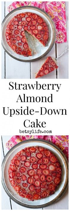 Strawberry Almond Upside Down Cake. Spring is right around the corner. Get inspired with this romantic dessert recipe for Valentine's Day
