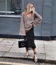 sweater + skirt