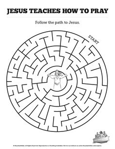 The Lord's Prayer Bible Mazes: Can your kids navigate each twist and turn of this the Lord's Prayer activity? Beautifully designed this Luke 11 Bible maze is perfect for your upcoming the Lord's Prayer Sunday school lesson.