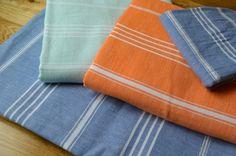 Fringeless Turkish Towels from Indigo Traders - Fine Mediterranean Textiles