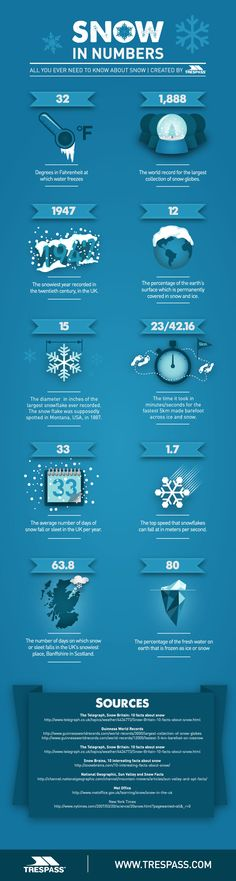 Snow In Numbers Infographic