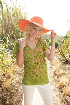 Palm Tunic by Cristina Mershon. Crochet jumper or tunic. 10 ply 182m/100g x 6-6.5.  2.75mm hook. Interweave Crochet Summer 2013. Saved to Evernote/iBooks.