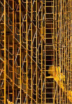 yellow scaffold | patternity