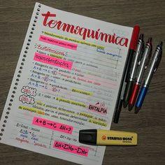 ✨ anotações sobre Termoquímica - Química ✨