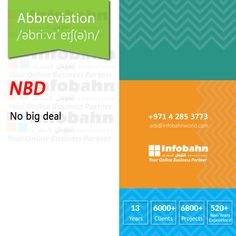 NBD – No big deal  #infobahnconsultancy #infobahn #ibc #seo #searchengineoptimization #digitalmarketing #godigital #digitalmarketingspecialist #onlinemarketing #socialmediaexperts #socialmedia #socialmediamarketing #website #websitecompany #webdesign #itcompany