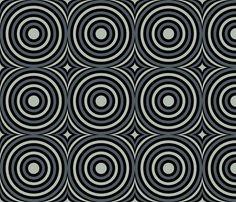 Grey Mod Circles fabric by modgeek on Spoonflower - custom fabric