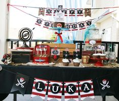 Pirate Party Birthday Party Ideas | Photo 16 of 21 | Catch My Party