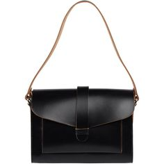 Sharp looking, really like this. Goes along with our other favorite bag. Like: raw edges, how clean it looks, closure strap. For a woman handbag, strap would need to be longer- potentially cross body. Top 2 favorite