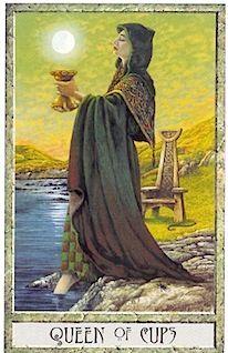 Queen of Cups from Druidcraft tarot