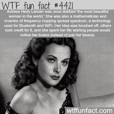 WTF Facts : funny, interesting & weird facts - Inventor & Hollywood actress Hedy Lamarr was one of the most beautiful actresses in Hollywood history, but was also genius smart. Wtf Fun Facts, Random Facts, Odd Facts, Strange Facts, Creepy Facts, Spiegel Online, E Mc2, The More You Know, Faith In Humanity