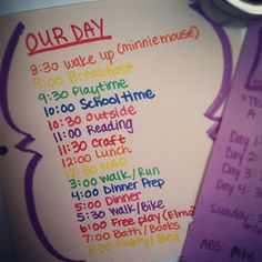 To help us get through the day. #totschedule #planningahead #organization #schedule Web Instagram User » Followgram