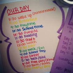 To help us get through the day. #totschedule #planningahead #organization #schedule Web Instagram User » Followgram
