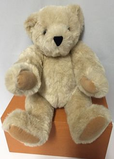 "Vermont Teddy Bear Plush 16"" Jointed Stuffed Animal Posable Handmade Brown #AllOccasion"