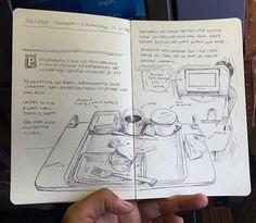 Late lunch at SQ #sketch #sketching #sketchbook #sketchwalker #travelsketch #travelsketcher #drawing