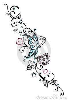 flower and vine tattoo designs ideas - Google Search