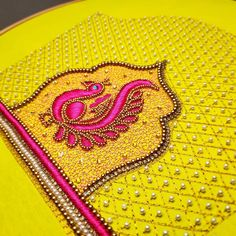 blouse designs Image may contain: 1 person Cutwork Blouse Designs, Kids Blouse Designs, Wedding Saree Blouse Designs, Embroidery Neck Designs, Saree Blouse Neck Designs, Aari Embroidery, Hand Designs, Dress Designs, Mehndi Designs