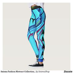 Shop Sxisma Fashion Abstract Leggings created by SxismaShop. Designer Leggings, Look Cool, Body Types, Dressmaking, Things That Bounce, Custom Made, Cool Designs, Pajama Pants