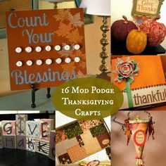 16 Mod Podge Thanksgiving Crafts