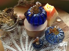 Fairy Offerings Glass Pumpkin Set by TheSHIPofFOOLS on Etsy