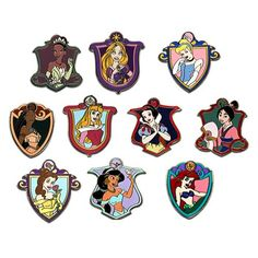 Disney Princess Mystery Pin Set. Pocahontas. Tiana. Rapunzel. Cinderella. Sleeping Beauty. Snow White. Mulan. Belle. Jasmine. Ariel. Seller lets you choose which pin you want.