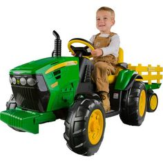 Peg Perego John Deere Ground Force 12 v Ride-On Tractor Green - Motorized Wheel Goods at Academy Sports