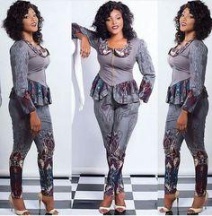 Ankara top and trouser ~DKK ~African fashion, Ankara, kitenge, African women dresses, African prints, African men's fashion, Nigerian style, Ghanaian fashion.