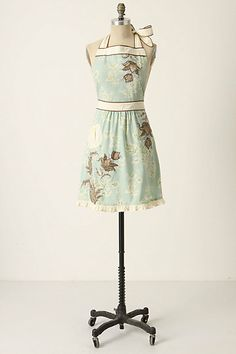 3-D Toile Full Apron - in Sky Blue and Red...I love them both, can't decide which I like more